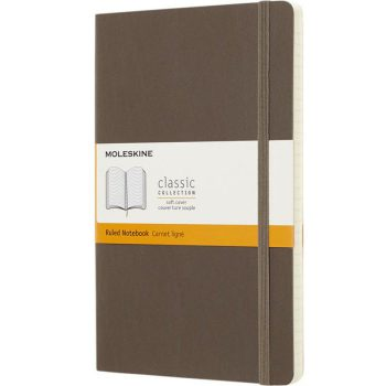 Moleskine notitieboek in de kleur earthbrown bedrukken met eigen logo