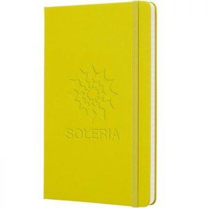 Moleskine notitieboek met bedrukking Dandelian Yellow