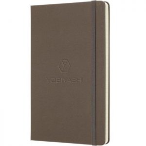 Moleskine notitieboek met bedrukking Earth Brown