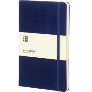 Moleskine notitieboek met bedrukking Prussian Blue