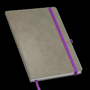 Suede notitieboek bedrukt met eigen logo