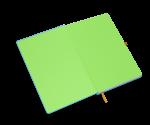 spiegelblad in de kleur groen