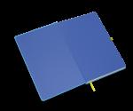 spiegelblad in de kleur blauw
