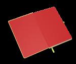 spiegelblad in kleur rood
