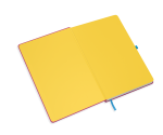 spiegelblad in de kleur geel