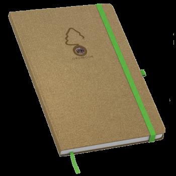 Growbook wood met eigen logo en zaden van de zwarte den