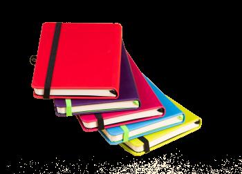 Notitieboeken met gekleurd elastiek