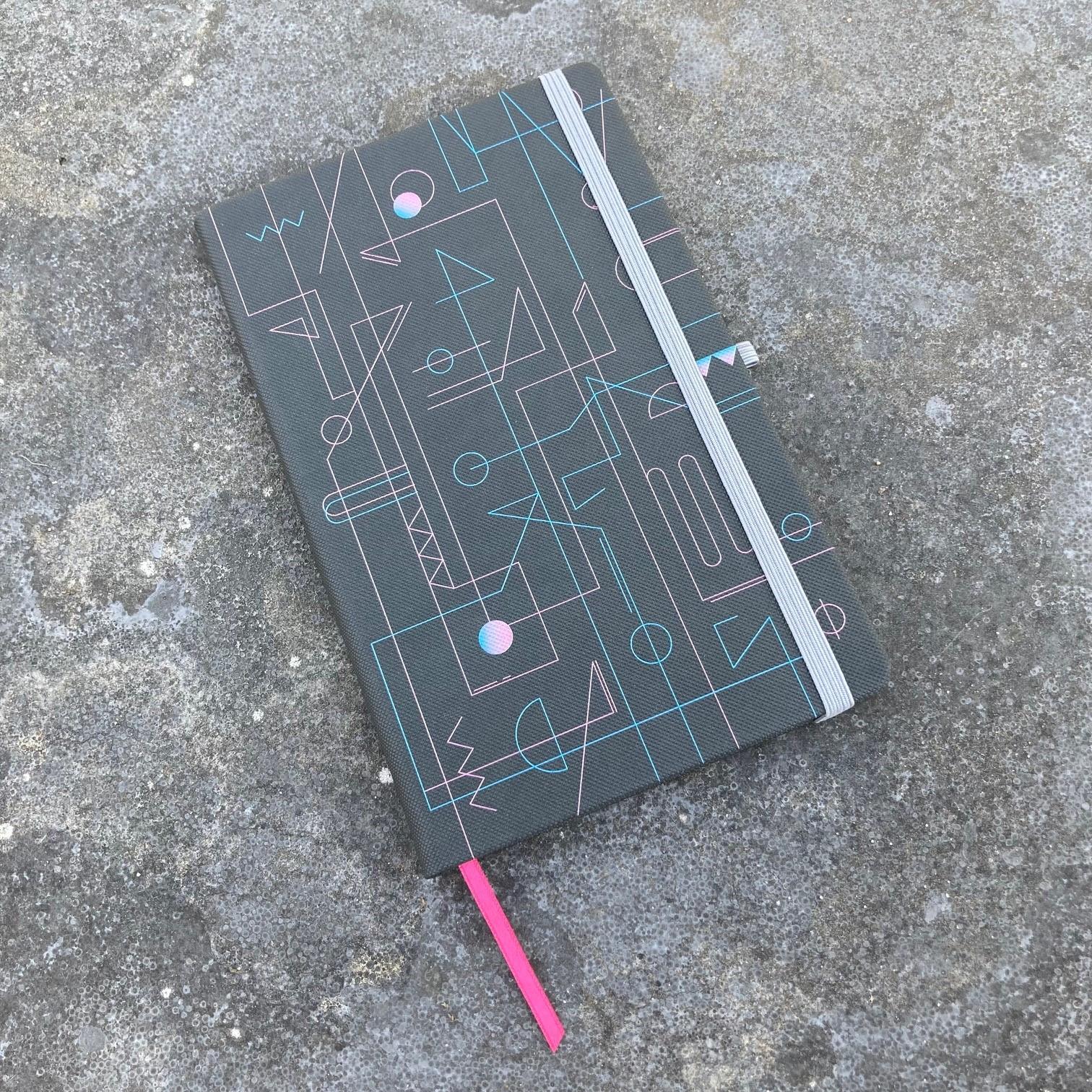 Mix&Match notitieboek light grey bedrukt in full colour