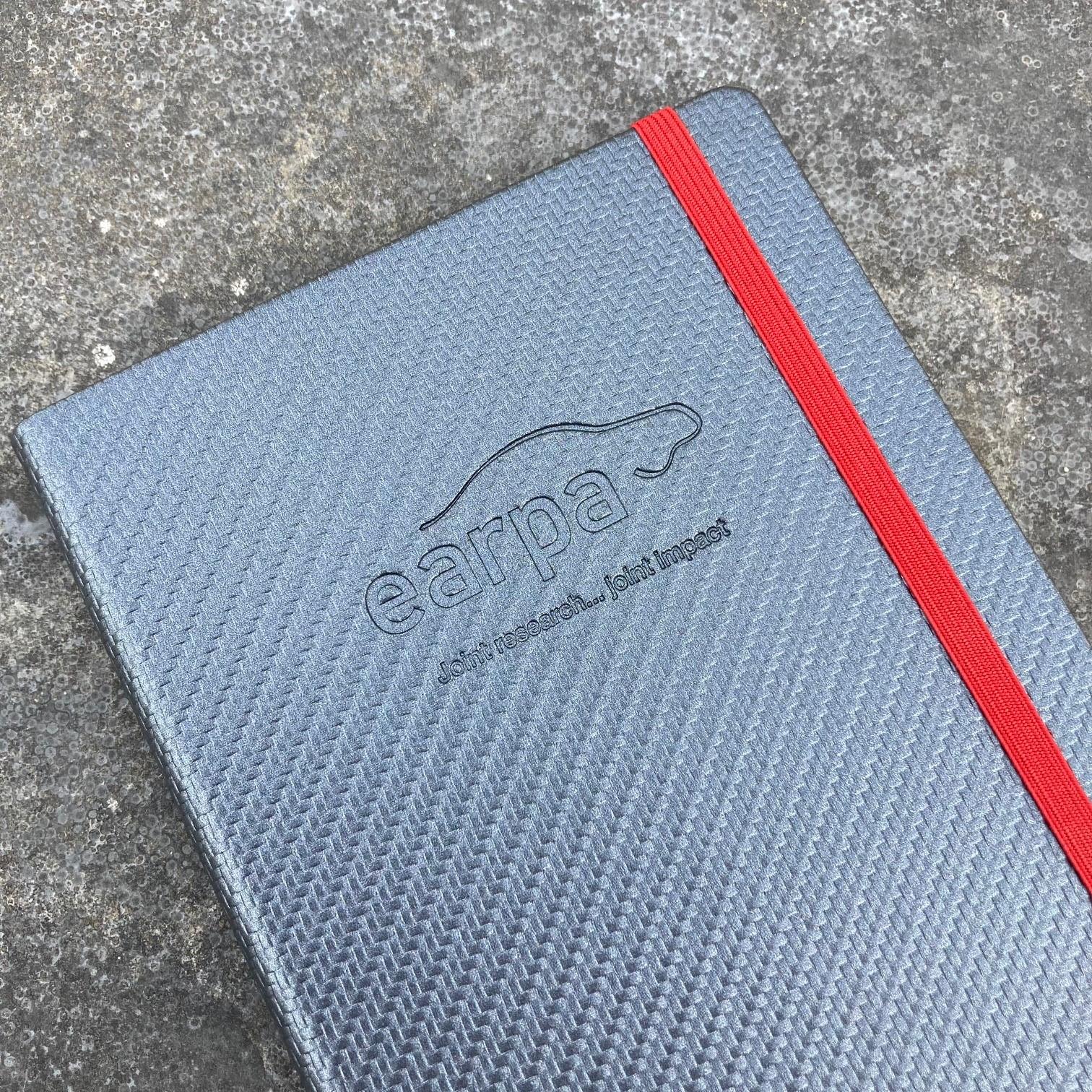 Pattern carbon fiber look notitieboek