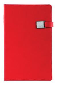 Notitieboek met magneetsluiting bedrukt met eigen logo