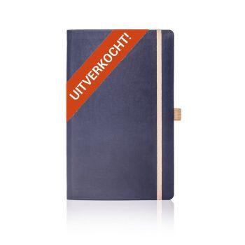 Appeel duurzaam notitieboek met eigen logo bedrukken blauw