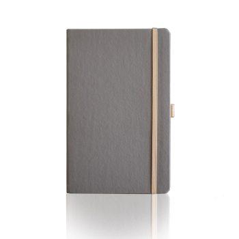 Appeel notitieboek in kleur grijs bedrukt met eigen logo duurzaam