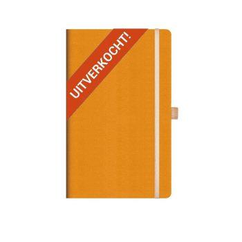 Appeel Renetta duurzaam notitieboek oranje bedrukt met eigen logo
