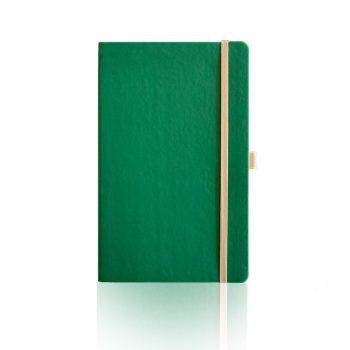 Duurzaam notitieboek Appeel in groene kleur bedrukt met eigen logo